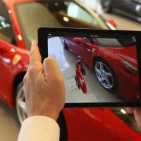 Ferrari use augmented reality in showroom