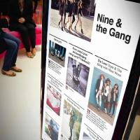 Nine West's social media wall and nfc tagged products