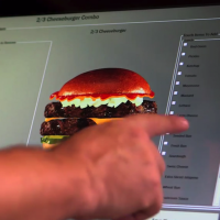 Build your own burger on a kiosk at Hardee's