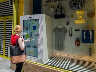 kate spade shoppable window