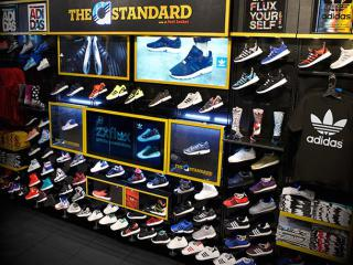Adidas interactive screens in Foot Locker stores
