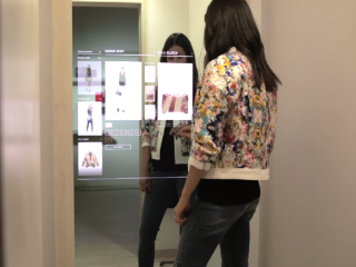 Digital changing room and interactive mirrors at Rebbecca Minkoff