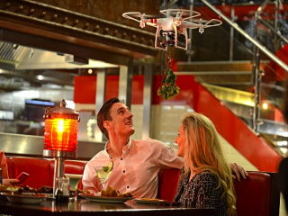 TGI Friday's mistletoe drone