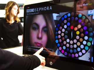 Sephora's augmented reality mirror for testing makeup