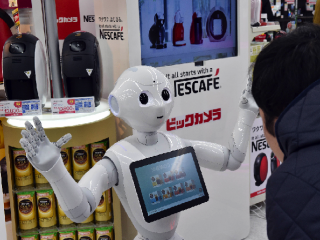 Friendly robot starts working in stores