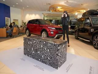 Land Rover showrooms with augmented reality headsets