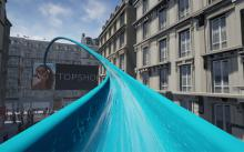 Topshop's virtual reality water slide