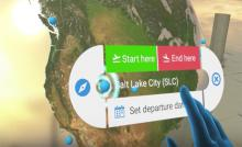 Travel booking in Virtual Reality