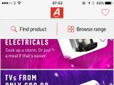 argos mobile app homepage