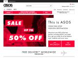 asos home page desktop