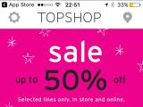 topshop home page mobile app