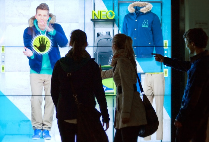 adidas NEO interactive storefront