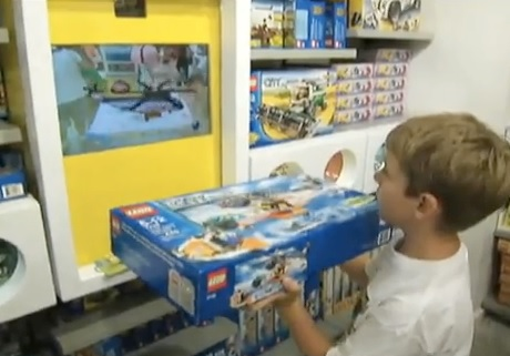 lego digital box augmented reality in store