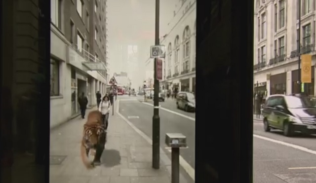 Pepsi use augmented reality to shock the public at bus stop