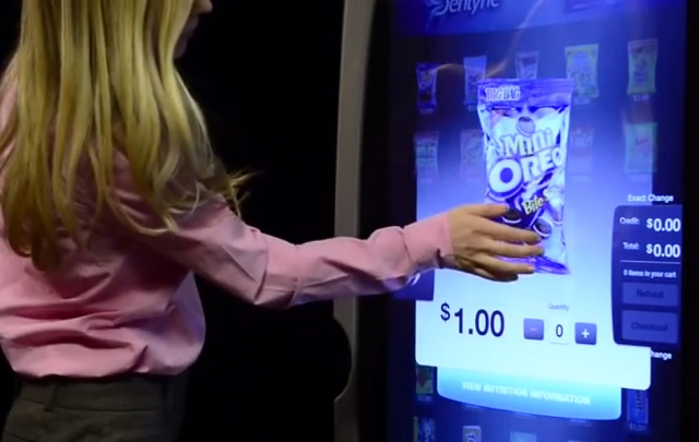 A totally digital vending machine
