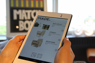 Made.com launch showroom with tagged products