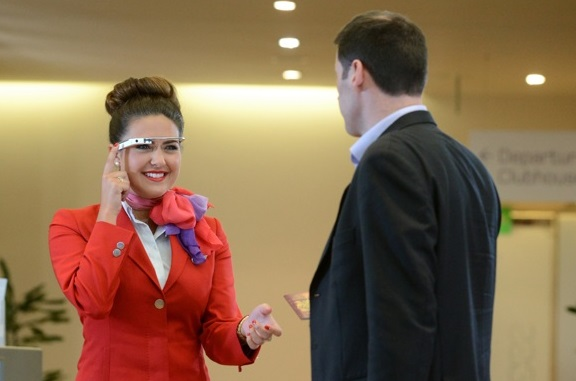Virgin Atlantic trial Google Glass