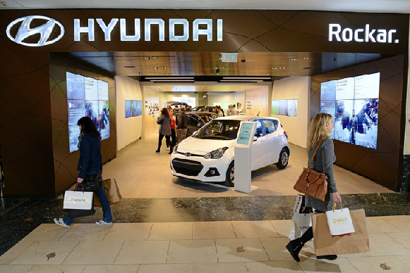 Rockar Open Hyundai Digital Car Showroom Retail Innovation - Hyundai car show