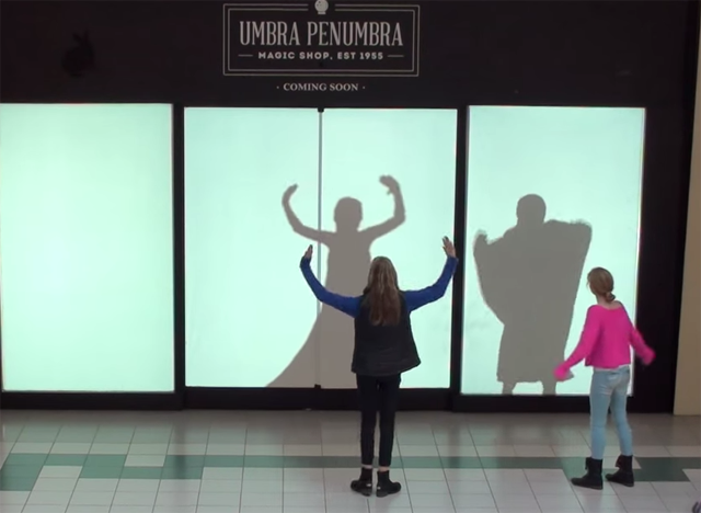 Disney employ shopper silhouettes