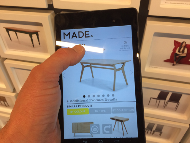 Tablet retail innovation - Www made com showroom ...