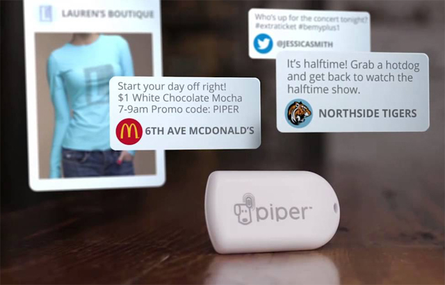 McDonalds broadcast offers via beacons in store