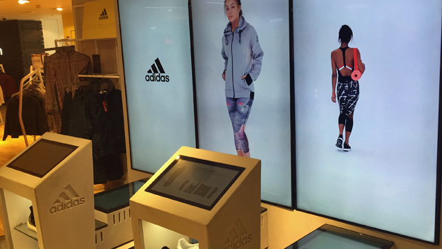 harrods adidas womenswear browser screens