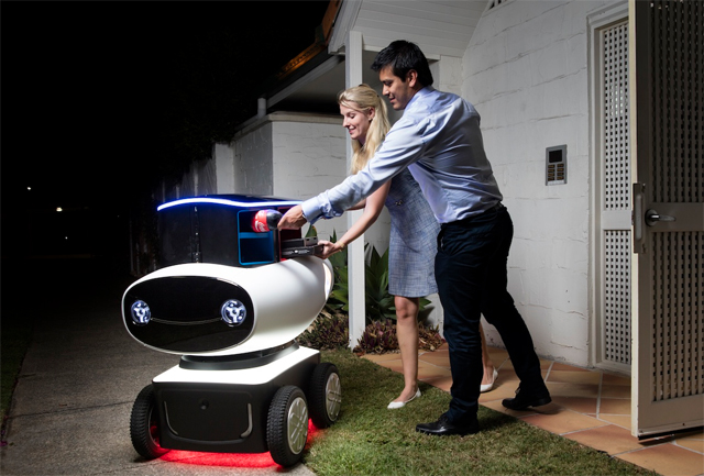 Dominos pizza delivery robot